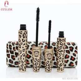 Love Alpha Transplanting Gel Pas Cher-Love Alpha Leopard 3D Mascara en fibre noire Lash Slender Set Cosmétiques Eyelash Transplanting Gel Eye Make up