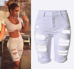 Jeans Sexy Spandex Pas Cher-Vente en gros - Londinas Ark Store Hot High-Waist Ripped Hole Femmes Jeans Feminina boyfriend Street Beat Elastic Stretch Denim Sexy Skinny Jeans