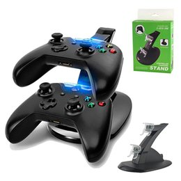Station Wireless Controllers Australia - for Xbox One Wireless Game Controller Charging Station Dual LED Micro USB Charger Dock Microsoft Xbox One Controllers