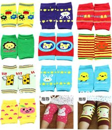 Baby Crawl Pads Canada - Wholesale- 6 Pair Baby Safety Knee Pad Kids Socks Children Short Kneepad Crawling Protector