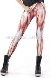 Polainas Al Por Mayor Más Tamaño Baratos-Venta al por mayor - 2016 polainas para las mujeres Musculos Leggings Leggings Punk Plus Size Pantalones Galaxy