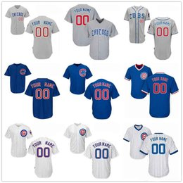 0f713630def ... Customized Chicago Cubs Mens Womens Youth Kids Gray Road White Blue  2017 Gold Custom Stitched Your ...