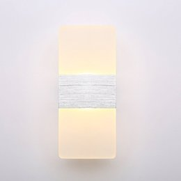 Wholesale Night Light Fixtures NZ - 2PC Modern Acrylic 12W LED Wall Sconces Aluminum Light Fixture Up and Down Light Decorative Lamp Night Light for Pathway, Staircase, Bedroom