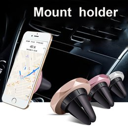 car mount phone holder stand 2019 - Universal Mini Magnetic Car Air Vent Holder Mount Stand Cradle Rhombic For Cell Phone iphone S8 GPS OTH511 cheap car mou