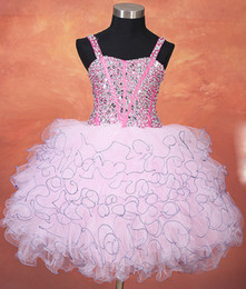 Little Girls Formal Party Dresses Canada - Pink Ball Gown Little Girls Pageant Dresses 2017 With Straps Beaded Crystals Sparkly Girls Formal Party Gowns Cute Custom Made Fast Shipping