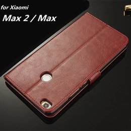 Wholesale Fundas for Xiaomi Max Max2 Card Holder Cover Case for Xiaomi Mi Max Leather Phone Case Ultra Thin Wallet Flip Cover