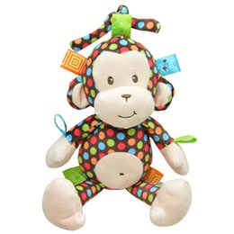 online shopping New Arrival High Quality Super Soft Cute Pull Appease Monkey Hanging Bell Car Bed Hanging Baby Rattles BYC107 PT49