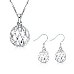 $enCountryForm.capitalKeyWord UK - wedding Twisted lanterns sterling silver plated jewelry sets for women DS793,popular 925 silver necklace bracelet jewelry set
