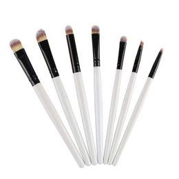 Pencil Blending Tool Canada - 7Pcs Eye Lip Makeup Brush Set Eyeshadow Eyebrow Eyeliner Nasal shadow Lip Blending Makeup Pencil Brushes Comestic Tools