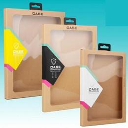 Ipad Mini Box NZ - Hook Kraft Brown Paper Retail Box Packaging boxes for 9.7 iPad 6 5 3 4 mini 2 3 4 PU Leather Case