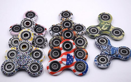 Discount style spinner - Camouflage Tri Fidget Spinner camouflage Hand Fingertip Spinner Gyro Cross Style EDC Torqbar Handspinner Desk Free DHL