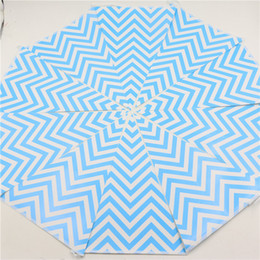 Wave Party Decorations Australia - Wholesale- Kids Favors Blue Wave Pattern Bunting Baby Shower Decoration Paper Pennats Happy Birthday Flags Party Banners Supplies 1set\lot