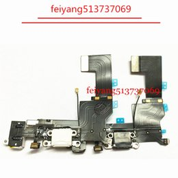 dock for iphone 5s UK - 100pcs High Quality Charger Dock USB Charging Port Headphone Jack Flex Cable For Iphone 5s by DHL EMS