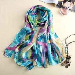 $enCountryForm.capitalKeyWord Canada - Wholesale-Shawls and Scarves Women New Designer Soft Bright Printed chiffon Scarf Winter Charpes Silk Hijab Scarf Women