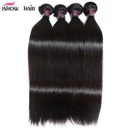 maylasian weft hair 2018 - Brazilian Peruvian Maylasian Silky Straight Hair 4 Bundles Ishow 8A Unprocessed Virgin Pure Hair Extension Human Hair We