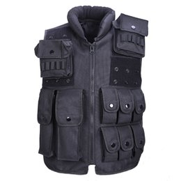Wholesale tactical vests military resale online - Tactical Vest Cool Mens Hunting Vest Outdoor Training Military Army Swat Vests Men Waistcoat Protective Magazine Pouch Black