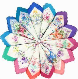 China 100% Cotton Christmas Table Handkerchief Hankerchiefs Cotton Party Towel Cutter Ladies Suit Pocket Square Handkerchief Free DHL SF127 suppliers