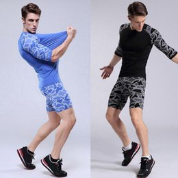 Wear Compression Shorts Australia - Hot Sale-Men Sports Compression Wear Short Pants Athletic Animal Print Short Pants