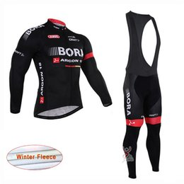 Thermal cloThing black online shopping - ropa ciclismo Bora Argon pro team Winter Cycling Jersey Long Sleeve Thermal Fleece Bike Clothes Bib Pants Set Men s Cycling Clothing A0403