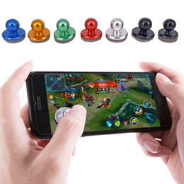 Discount wireless game controller for ipad - Mini Tactile Game Controller Mini joystick for iPhone, iPad touch, or Android device cellphone roker sucker DHL OTH455