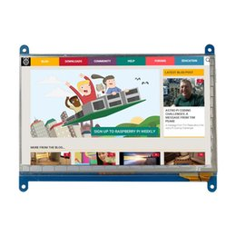 touchscreen hdmi UK - Freeshipping 7 inch Raspberry Pi 3 Touch Screen 1024*600 800*480 Capacitive Touchscreen LCD HDMI Interface TFT Display + Acrylic Holder Case
