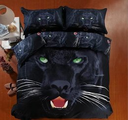 Queen Bedspread Set Canada - Moon Black Cat 3D Reactive Printed Bedding Sets Twin Full Queen King Size Bedspreads Bedclothes Duvet Covers Pillow Shams Comforter Animal