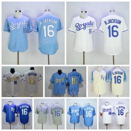 9507a9dbb ... KC Royals Jerseys 16 Bo Jackson Jersey Flexbase Kansas City Royals  Baseball 1985 1987 Turn Back 2016 New Auburn ...