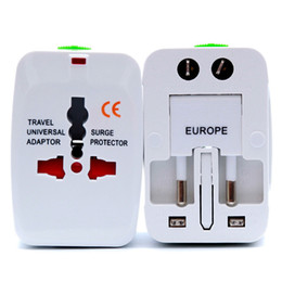 Power Socket Eu Australia - International Travel Universal Adapter Electrical Plug For UK US EU AU Socket Converter Power Charger White New Convinien Portable