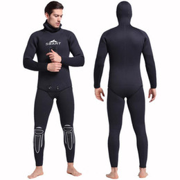 Barato Roupas De Nylon Ajustadas-Dropshipping Men's Neoprene 3mm Full Body Warm Winter Mergulho Terno de duas peças Snorkeling Swiming Surfing Suit Tight Fitting Wetsuit