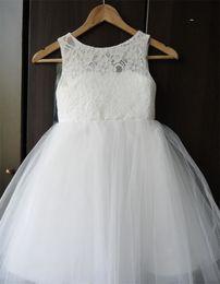 Sweetheart Keyhole Back Wedding Dress Canada - Brand New Flower Girl Dresses for Wedding Little Girls KidsChildren Dress Keyhole Back First Communion Ball Party Pageant Dress