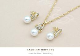 18k Earrings Wholesale Canada - Best Swarovski Elements 18K gold Opal Pendant Necklace Earring Set Fashion Fower Austrian Crystal Jewelry Sets