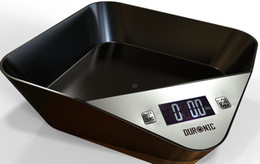 digital scales tray NZ - LCD Kitchen Digital Scale 5000g   1g Built-in Bowl Body Design Tray Scale Coffee Tea Weighing Device Household Cooking Tools