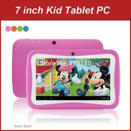 Discount dhl inch tablet pc - Wholesale- DHL Free Shipping 7 inch Cheap Children Kids Tablet PC Quad Core Android 5.1 Dual Camera WiFi