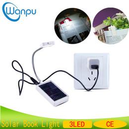 europe lights 2019 - LED Solar Book Light Mini Solar USB charging Modern Portable Eye Protection Multi Use Reading Clip On Book Reading Lamp