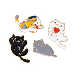 China Cat Enamel Pin Cat Lapel Pin For Jackets and Backpacks Cat Lover Jewelry Cute Girl Gifts cheap cat lover gifts suppliers