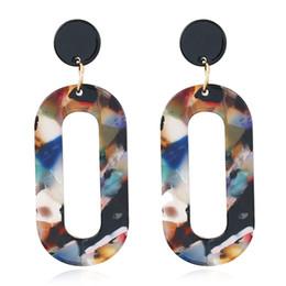 o shape 2019 - Fashion Trendy Women Hoop Earrings Simple Acrylic O shape Earrings Pendientes Mujer moda Girls Dating Jewelry Wholesale