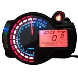 Новый универсальный регулируемый автоматический мотоцикл цифровой спидометр LCD цифровой одометр AUP_301