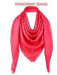 shawl chiffon plain georgette 2019 - 2018 Red L Check Wool Cotton Cashmere Silk Scarves Scarf Wrap Shawl Pashmina 140x140cm