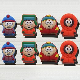 $enCountryForm.capitalKeyWord NZ - 40pcs South Park PVC Shoe Charms Ornaments Buckles Fit for Shoes & Bracelets ,Charm Decoration,Shoe Accessories Party Gift Free Shipping