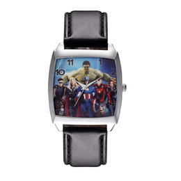 $enCountryForm.capitalKeyWord Canada - Cartoon Boy women's girl children students Captain America Iron man Hulk style Rectangle dial Black leather strap quartz wrist watch 08