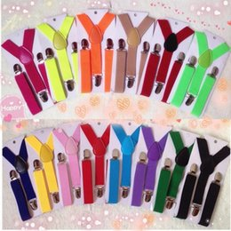 Free Toddler Canada - Promotion Sale Kids Toddlers Suspenders, Free Shipping, 2.5cm 65cm Elastic Adjustable ,3 Clips-on, Y-Back, Boys Girls 35 Colors