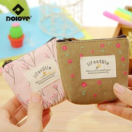 2017 handbag fabric korea Wholesale- DOLOVE South Korea fabric Zero Coin Purse Small Women Bag Mini Canvas Wallet Wholesale customized Flower Handbags cheap handbag fabric korea