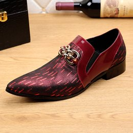 Cow Dress Canada - European style Retro 2017 Men Fashion Brand Shoes Pointed Slip On Toe Business Dress Shoes Men Cow Real Leather Shallow Shoes
