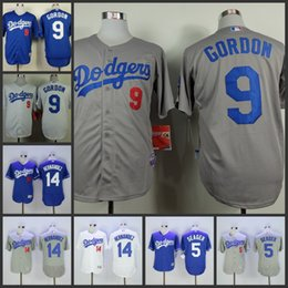 jerseys mens los angeles dodgers 9 dee gordon 14 enrique hernandez blue white grey new coolbase flexbase