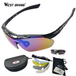 85ec22d4c48 Wholesale- WEST BIKING Polarized Sunglasses Set Outdoor Sports Eyewear  Windproof Anti-UV Climbing Cycling Goggle Pro Road MTB Bike Eyewear