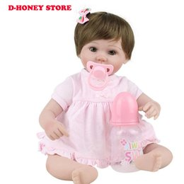 Lovely Doll Silicone Canada - Reborn babies Dolls Soft Silicone 45cm Magnetic Lovely Lifelike Cute Boy Girl Toy bonecas bebe gift reborn