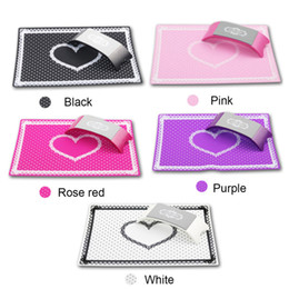 Barato Manicure De Mesas-Nail Art Equipment Advanced Silicone Plastic Pillow Hand Holder Almofada Mesa Mat Pad Foldable Lavável Salon Manicure Tool 0603085