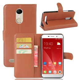 Pink Blades Canada - For ZTE Blade A602 Phone Cover Litchi Pattern PU Leather Wallet Stand Case Cover with Card Slot