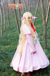 Barato Traje Da Cauda De Fadas Do Anime-Quadrinhos novos Fairy Tail Cosplay Mavis Vermillion Cosplay Costume Vestido de alta qualidade Pink Pretty Girl's Suit para Halloween Party