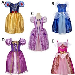 cinderella style dresses for girls 2019 - Baby girls princess TuTu lace dress children snow White princess dresses cartoon kids Cinderella dress for party C2035 d
